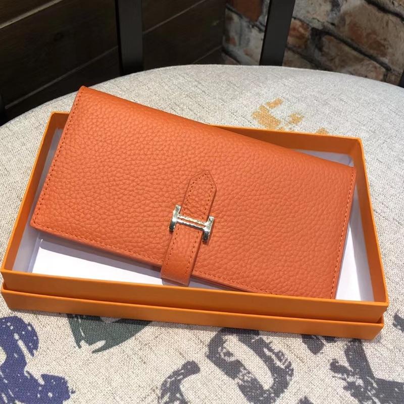 Genuine Leather Womens Luxury Design Wallets  Purse Fashion Long Money Bag Phone Card Holder Clutch 2021 (Light Gold Hardwar)