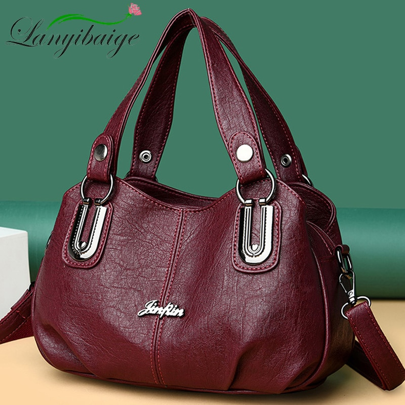 2021 New Brand Soft Leather Messenger Bag Luxury Handbag Women Bags Designer Handbags High Quailty Shoulder Bags Tote Sac A Main