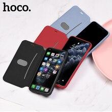 HOCO Original Liquid Silicone Case For i phone 11 11 Pro Max flip  Cover Stylish Premium Luxury business Full Protective case