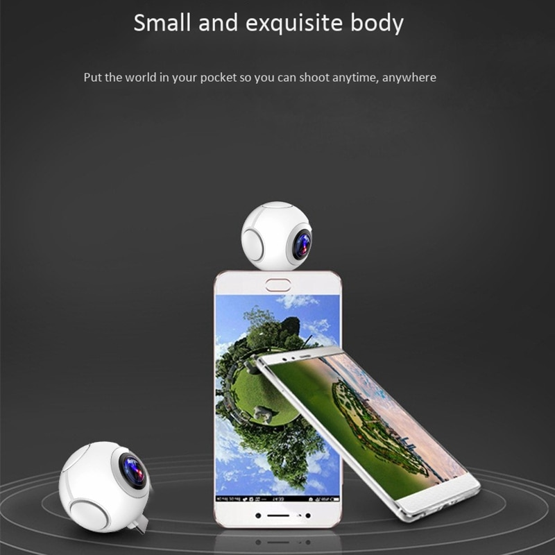 For Outdoor 360 Panoramic Camera HD Fisheye Dual-Lens Camera Selfie Live Streaming  Action Sports Cam For Android Smartphone enlarge