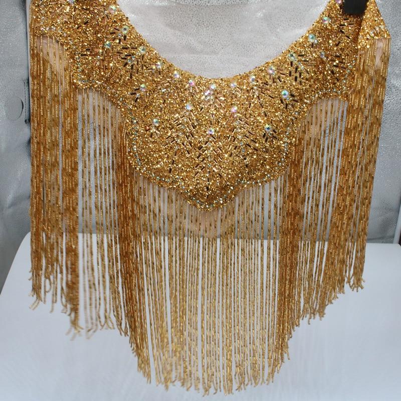 Altura 45cm Novo Vermelho Ouro Preto E Prata Casamento Bordado Cristal Frisado...