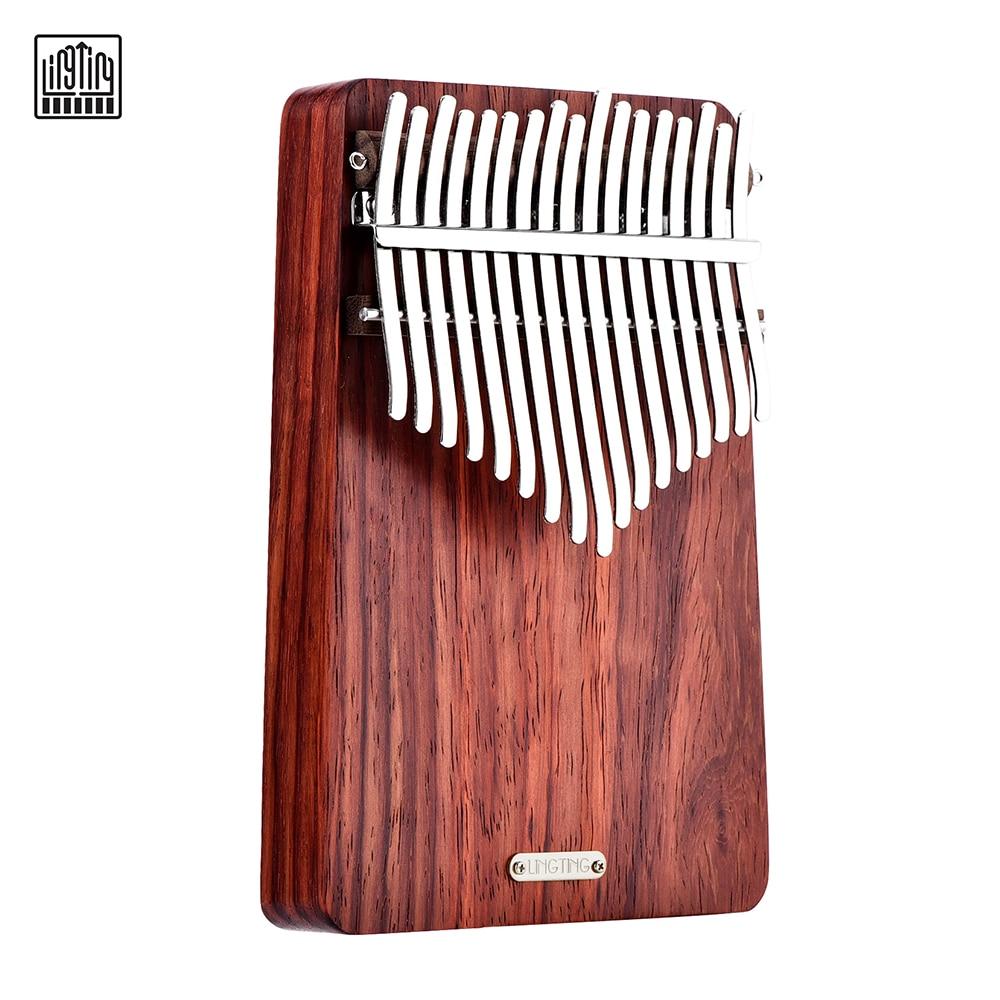 LINGTING K17A 17 مفتاح المحمولة الإبهام البيانو كاليمبا Mbira Sanza بادوك matetal مع حقيبة كتاب الموسيقى ملصقات ضبط مطرقة بيك اب