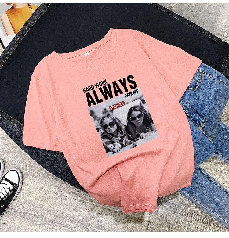 Women T-shirts Casual Harajuku Love Printed Tops Tee Summer Female T shirt Short Sleeve T shirt For Women Clothing