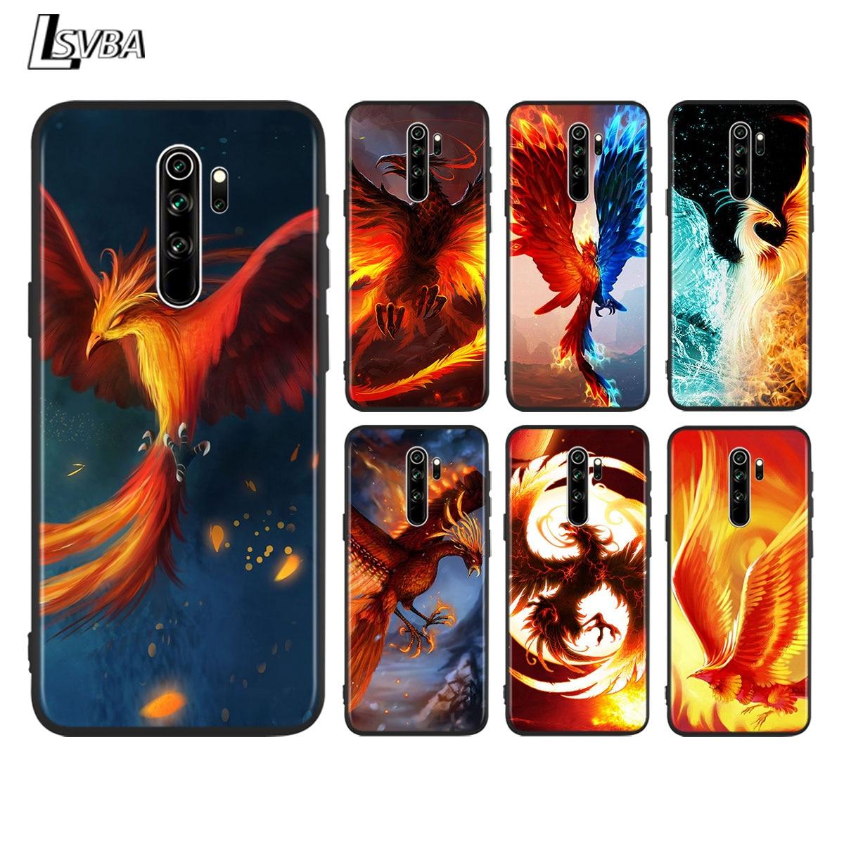 Magia Phoenix para Xiaomi Redmi 10X 5G 9i 9C 9A 9 primer ir K20 K30 Ultra 8A 8 7A 7 S2 6A 6 4X brillante Negro teléfono caso