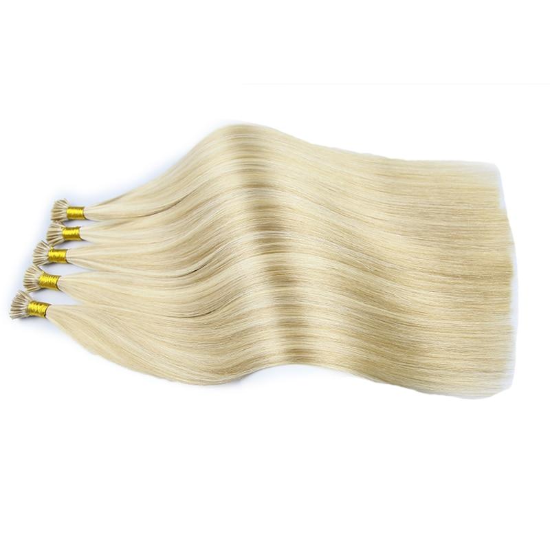 Piano Color 18P613 Fusion I-tip Hair Extensions Straight Virgin Keratin I Tip Hair Pre Bonded Human Hair 1g/pc