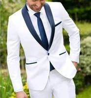 my loddy men suits wedding suits 2 piece of suit groomsmen tuxedos navy shawl lapel custom made business blazerjacket pants
