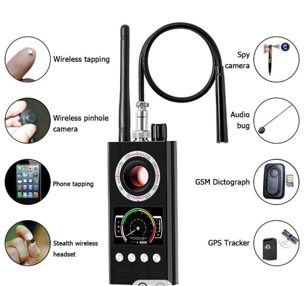K68 مكافحة التجسس اللاسلكية RF مستكشف إشارة علة GSM لتحديد المواقع المقتفي كاميرا تجسس خفية جهاز التصحيح سيارة لتحديد المواقع إشارة كاميرا كاشف ...