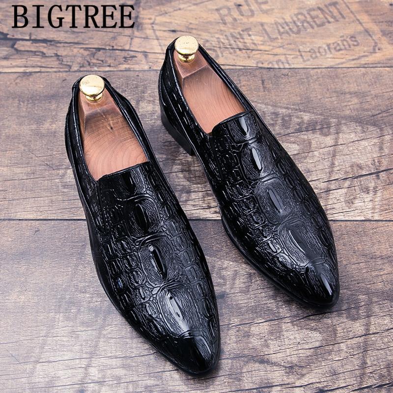 Coiffee-Zapatos De piel De cocodrilo para Hombre, calzado De Vestir italiano, clásico,...