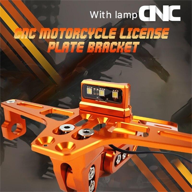 Placa De matrícula LED para motocicleta, soporte De placa para Moto universal, Honda Grom, Luz, matrícula para Moto