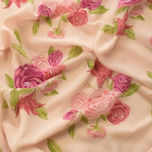 145x100cm Imported Fashion floral Print Soft Chiffon Fabric for Women Wedding Dress Shirt scarf Sewi