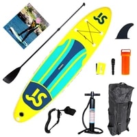 js335 adult inflatable professional surfboard board yellow blue green facebook paddle board upright sup board water skiing board