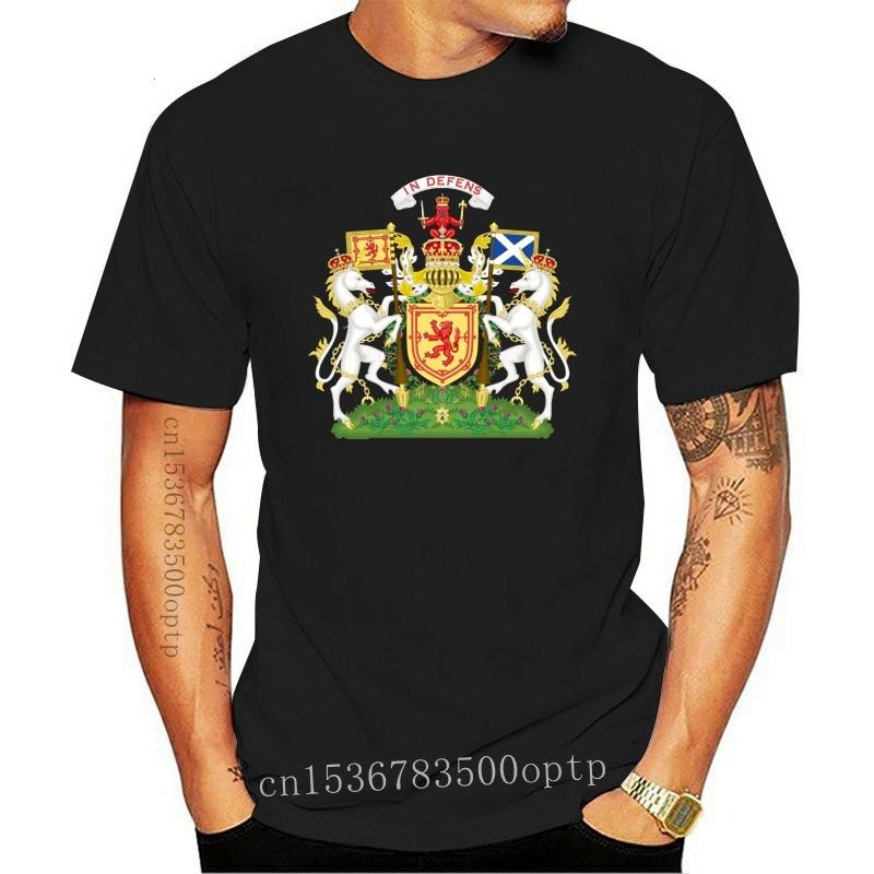 New Scotland Coat Of Arms Men T Shirt Popular Couple Big Size Cotton Short Sleeve Men T-shirt