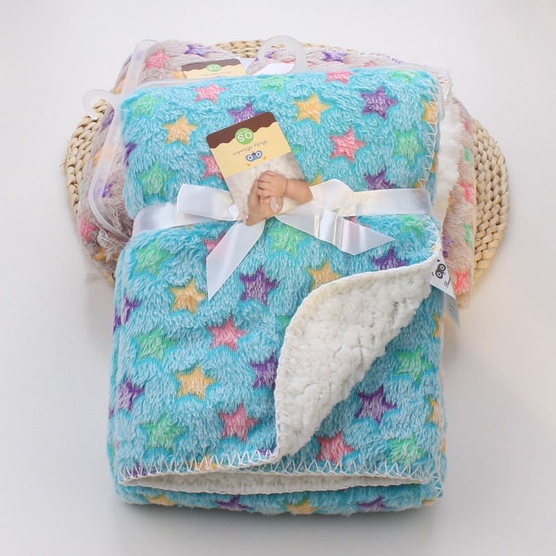 Детское одеяло из флиса кораллового цвета с принтом из мультфильма с двойным Слои получение Пеленальное Одеяло конверт коляска Обёрточная ...