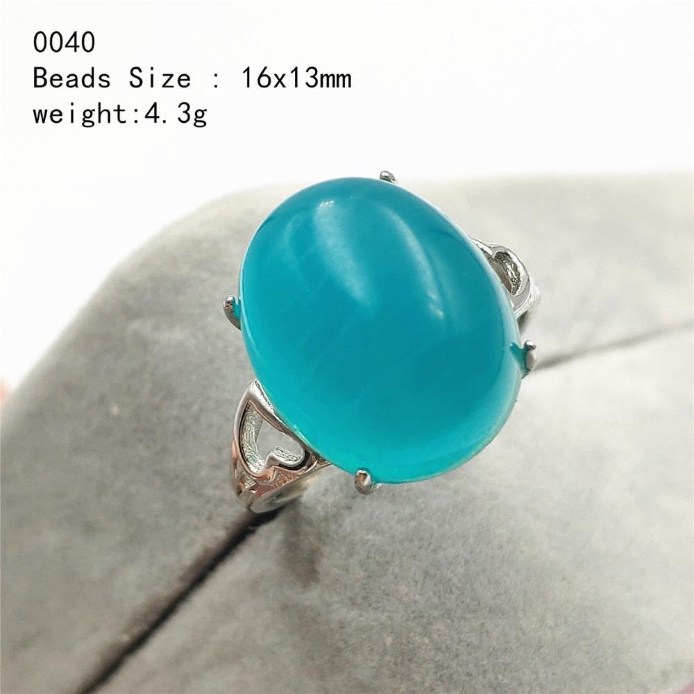 Natural verde gelo amazonite pedra preciosa 925 prata esterlina anel ajustável mulher homem amor grandes grânulos anéis aaaaa