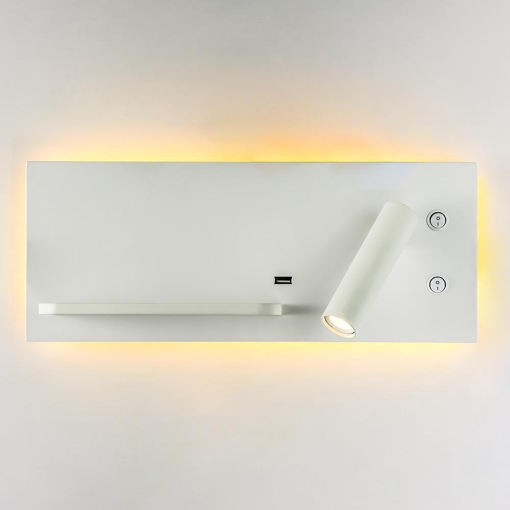 Zerouno Drahtlose Ladegerät Usb Wand Lampe Bett Wand Montiert Lesen Buch Licht Usb Ladegerät Leuchte Led Beleuchtung Funktionale Wand Lampen