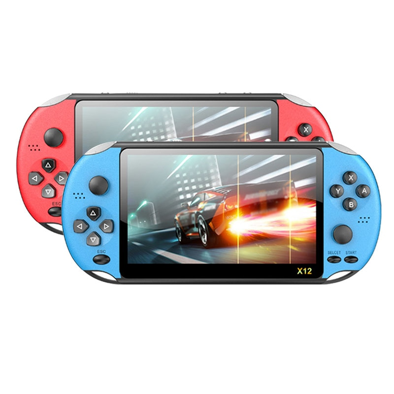 Powkiddy x12 pro handheld game console 8gb embutido 2000 jogos de vídeo retro game player