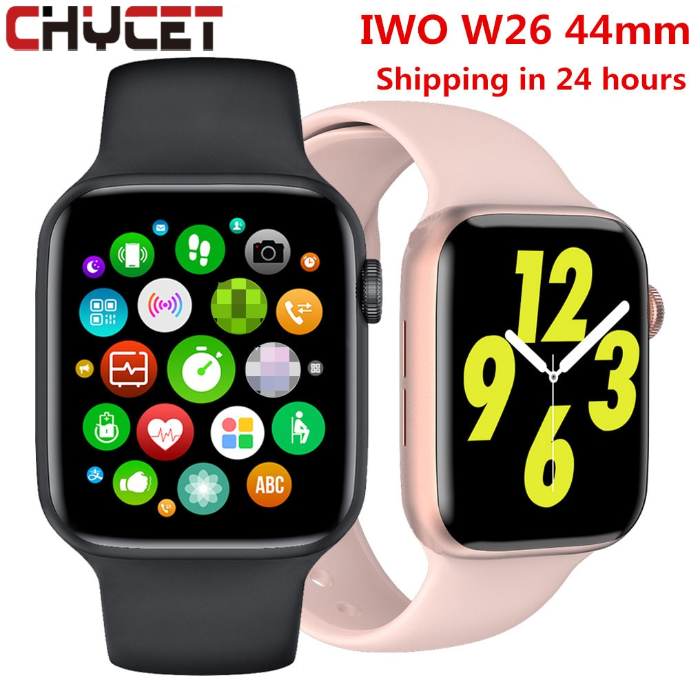 2021 الأصلي IWO W26 W46 ساعة ذكية الرجال/النساء معدل ضربات القلب/ضغط الدم ساعة مراقبة ساعة ذكية لنظام أندرويد IOS PK HW22 HW16
