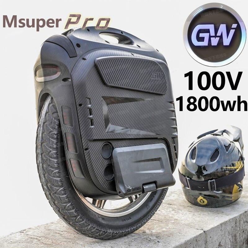 2020 Hotest Gotway Msuper X Pro 100V/1800wh оригинальная гарантия на электрический Одноколесный велосипед, 2500 Вт мотор супер мощность максимальная скорость 60 ...