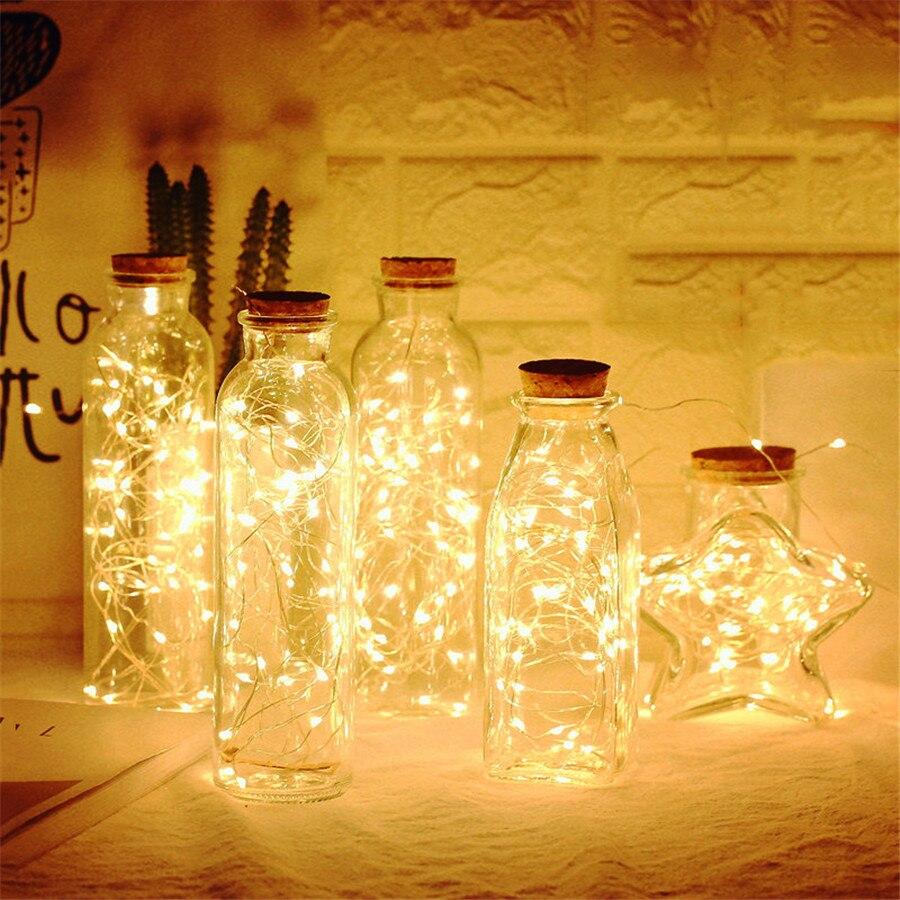 Светодиодный светильник Foxanon в виде бутылки s, 1 м, 2 м, светодиодный Сказочный светильник с медной проволокой, гирлянда, светильник для праздн...