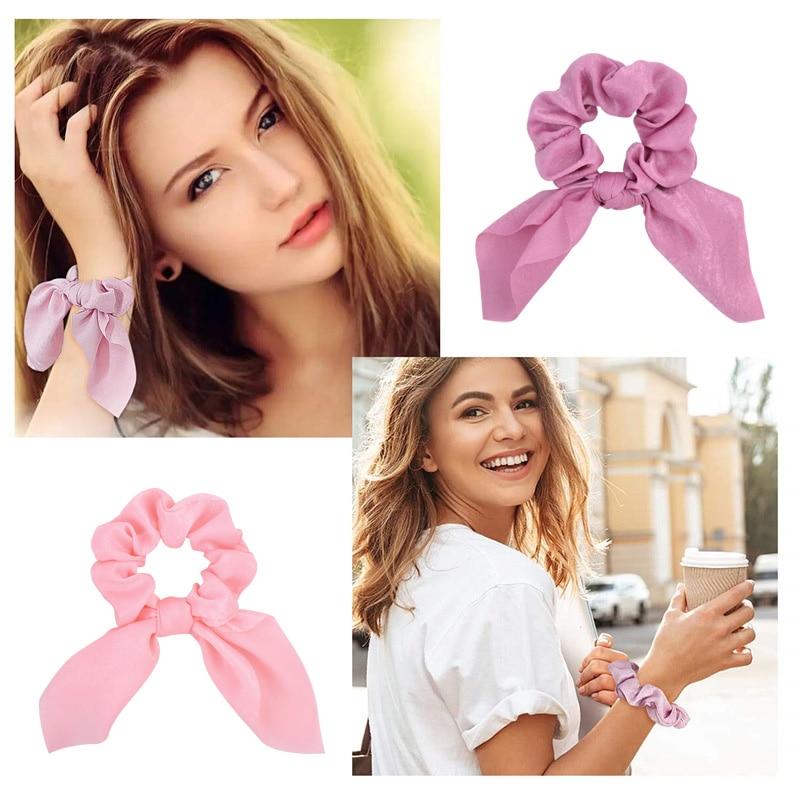 Novi šifonski elastični trakovi za lase za ženske in deklice, - Oblačilni dodatki - Fotografija 6