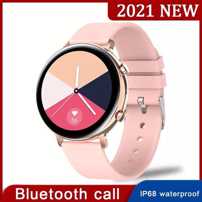 2021 جديد بلوتوث دعوة ساعة ذكية النساء IP68 مقاوم للماء معدل ضربات القلب ECG PPG رصد الرجال Smartwatch لسامسونج غالاكسي نشط 2