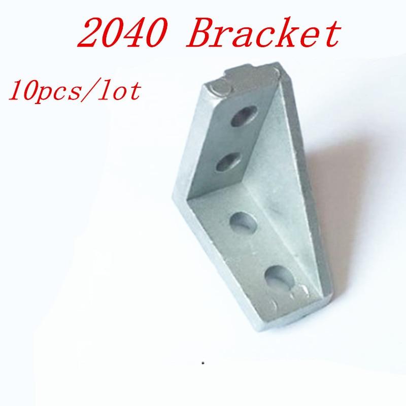 10 шт. 2040 угловой кронштейн фитинги слот 6 Угловые L дышащие соединители для 2020 алюминиевый профиль аксессуары