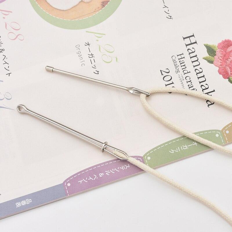 Banda elástica/cuerda que lleva guía para aprender a enhebrar el dispositivo hacia adelante herramienta de costura de aguja DIY herramientas de costura herramientas utilitarias