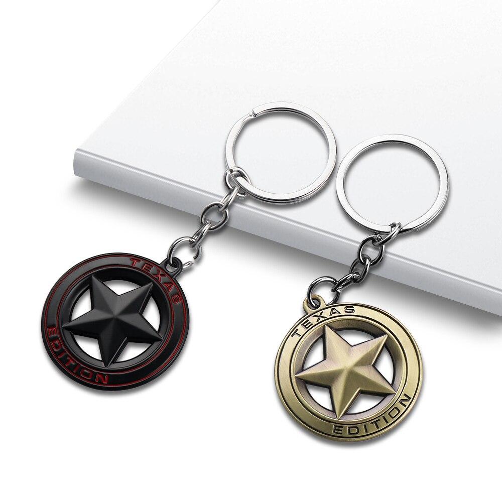 Edición de TEXAS emblema insignia llavero de cadena y anillo para coche para Jeep Wrangler renegado Grand Cherokee Liberty accesorios de estilo de coche