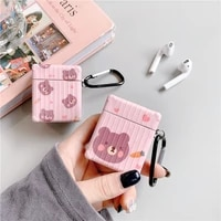 for apple airpods earphone case protective cover 12 generation wireless bluetooth cartoon cute bear three dimensional imd shell
