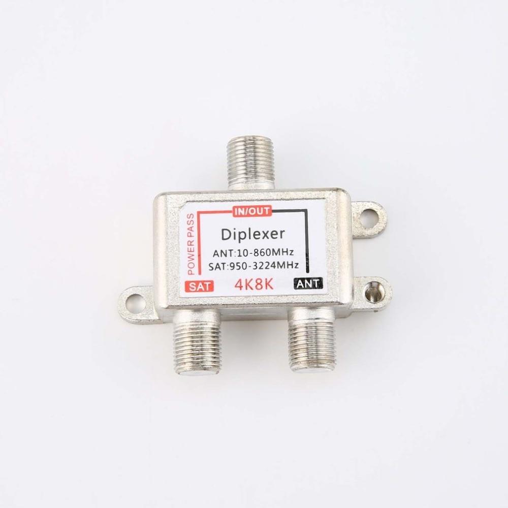 4k8k sat/ant diplexer 10-3224mhz kabel en satelliet tv signaal híbrido divisor satelliet scheiding en rf signalen