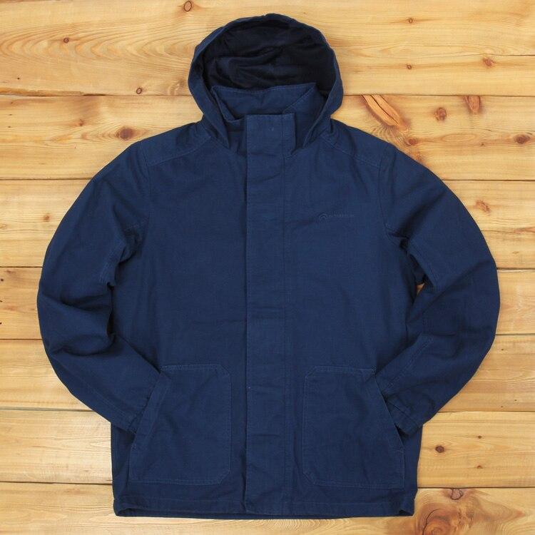 Chaqueta con capucha 100% algodón casual hombres primavera otoño lavado algodón gran yarda de talla grande ropa de calle masculina cazadora abrigo