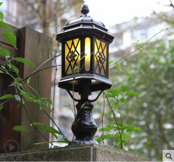 European column headlight wall lamp outdoor waterproof fence column lamp outdoor courtyard square villa garden lamp enlarge
