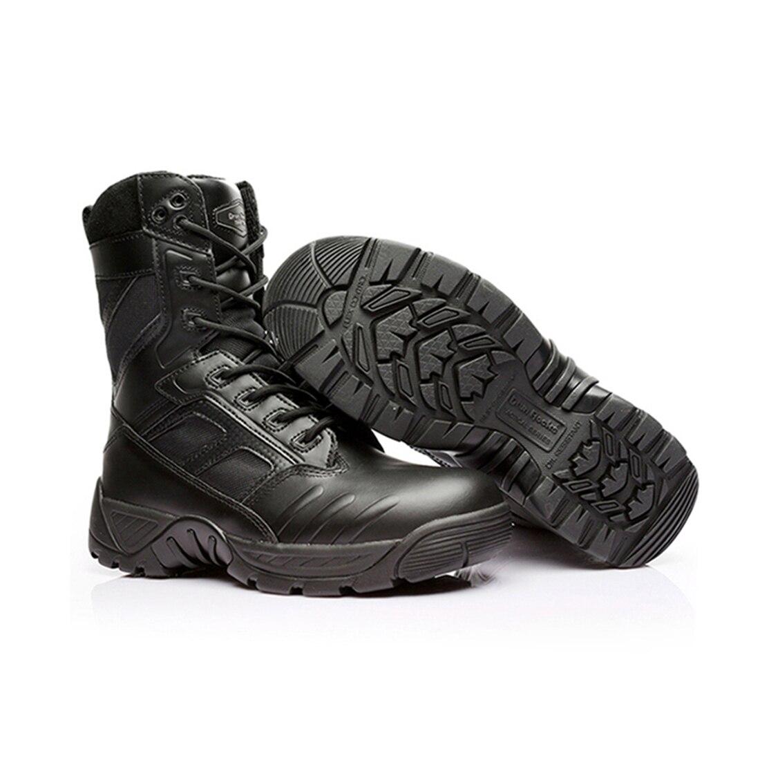 Workerkit Waterproof Puncture-proof Cowhide Tactical Boots Outdoor Hunting Combat Boots for Men