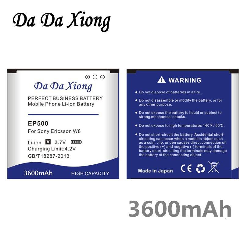 Da Da Xiong 3600mAh Li-ion Bateria Do Telefone para Sony Ericsson Xperia ST17I EP500 ST15I SK17I WT18I X8 U5I E15i wt18i wt19i U8