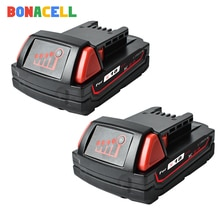 Bonacell para Milwaukee 2000mAh 18V M18 herramientas de batería Li-ion de 48-11-1840 48-11-1815 48-11-1850 48-11-1811