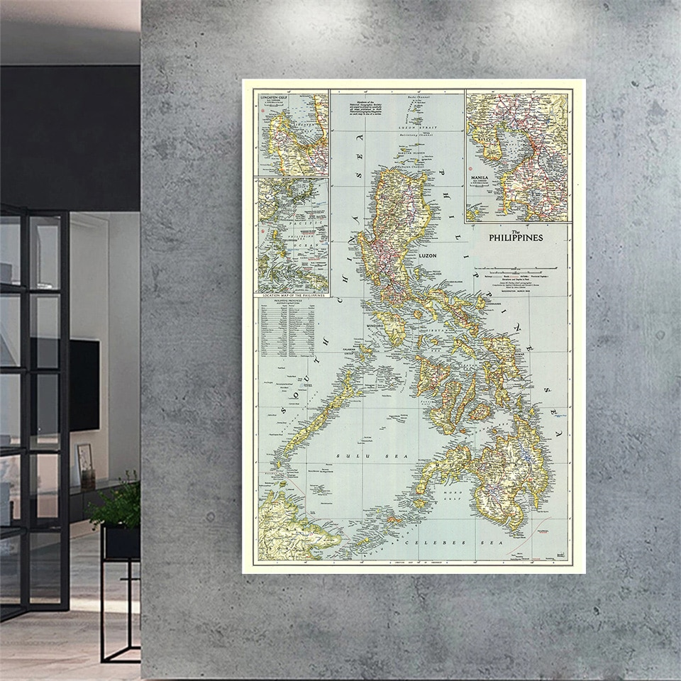 colorful world map wall decor 150x225cm large world map office supplies detailed antique poster wall chart for culture supplies 100*150cm 1945 Vintage Map Philippines Detailed Poster Retro Canvas Painting Wall Decor Office Home Decoration School Supplies