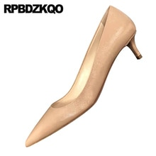 pumps italian medium heels thin brand women shoes 2019 stiletto fashion high pointed toe scarpin designer size 4 34 customized