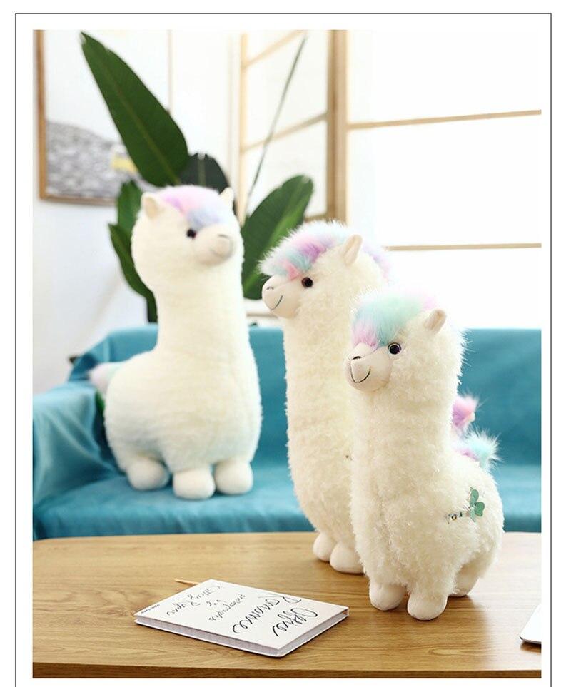 38cm Kawaii Alpaca peluche muñeca de juguete Linda Llama Alpacasso juguetes de peluche japoneses Alpaca peluches muñeca niños regalo
