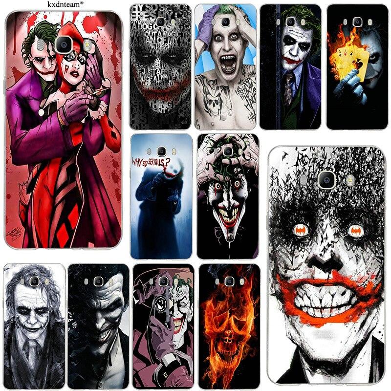 Soft TPU Mobile Phone Cases for Samsung Galaxy J1 J2 J3 J5 J7 2015 2016 2017 Coque Shell Bags Joker Batman The Killing Joke