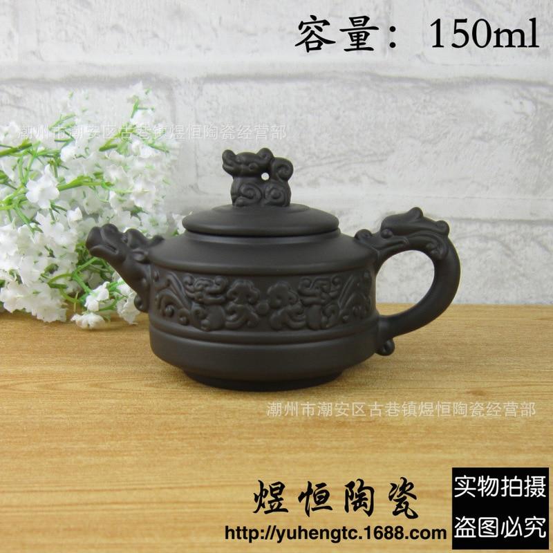 Venta directa al por mayor de tetera de barro zhu auténtico chaozhou ofertas especiales se recomienda desvestir mineral Kowloon olla de 150 ml