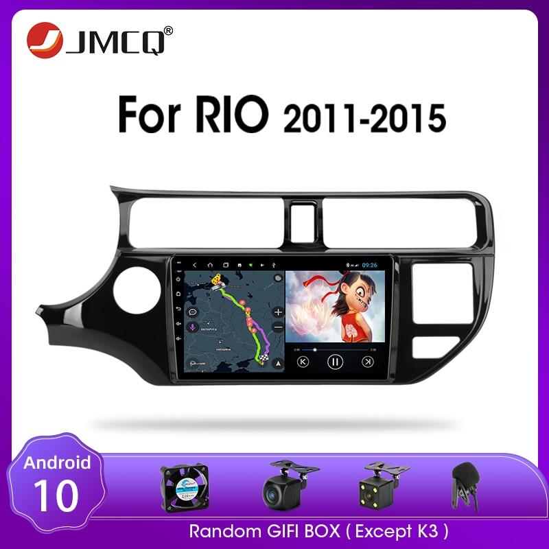 JMCQ أندرويد 9.0 راديو السيارة لكيا K3 ريو 2011-2015 الوسائط المتعددة مشغل فيديو لتحديد المواقع 2din 2 + 32G الملاح لتحديد المواقع تقسيم الشاشة مع الإطار
