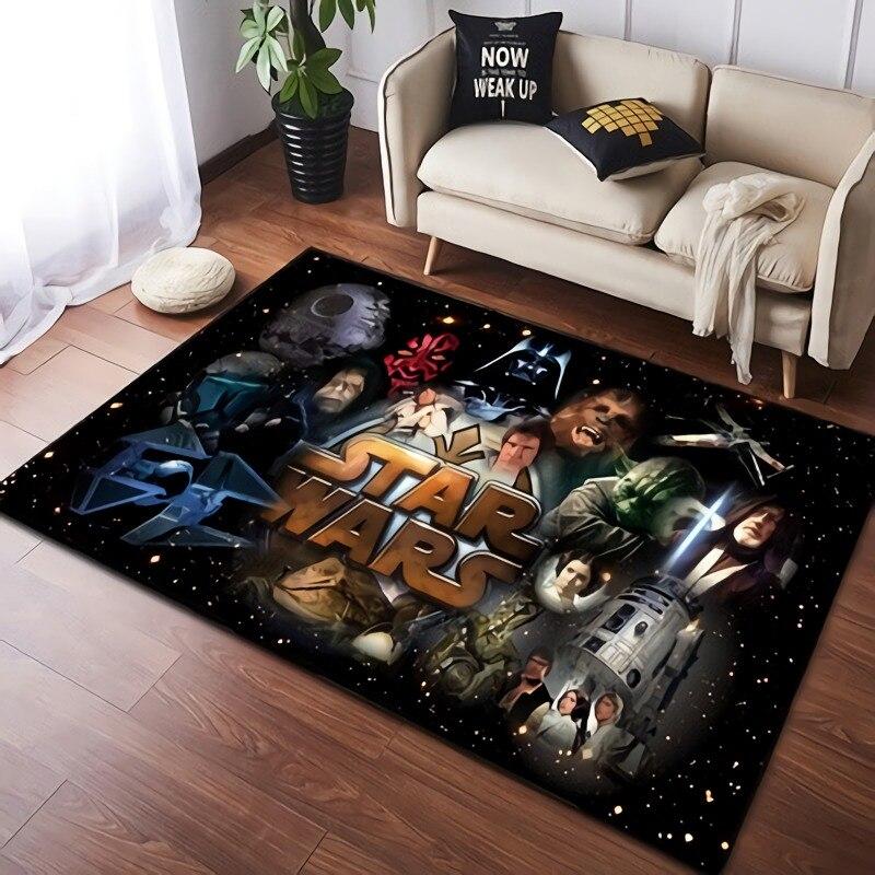 Детский игровой коврик Disney 80x160 см, коврик из Звездных войн, коврик, нескользящий напольный коврик, коврик, мягкие комнатные коврики