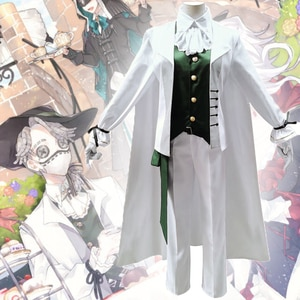 Game Identity V Cosplay costumes Survivor Embalmer Aesop Carl Cosplay Costume Enchanter Uniforms Suits White Midsummer tea party