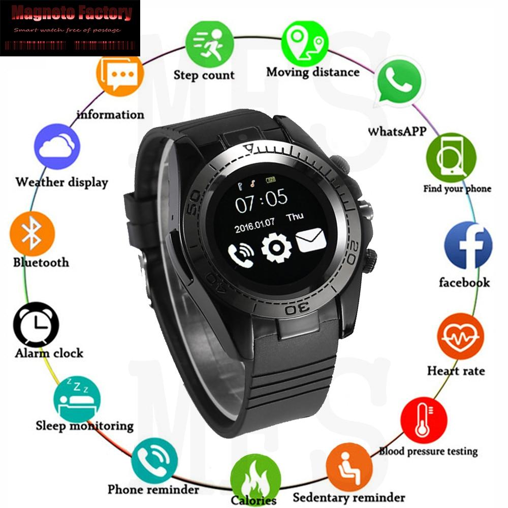 MFS SW007 Bluetooth Smart Watch Android  Men Smartwatch  Wear Smart Clock phone Camera With Sim TF card apple watch ios