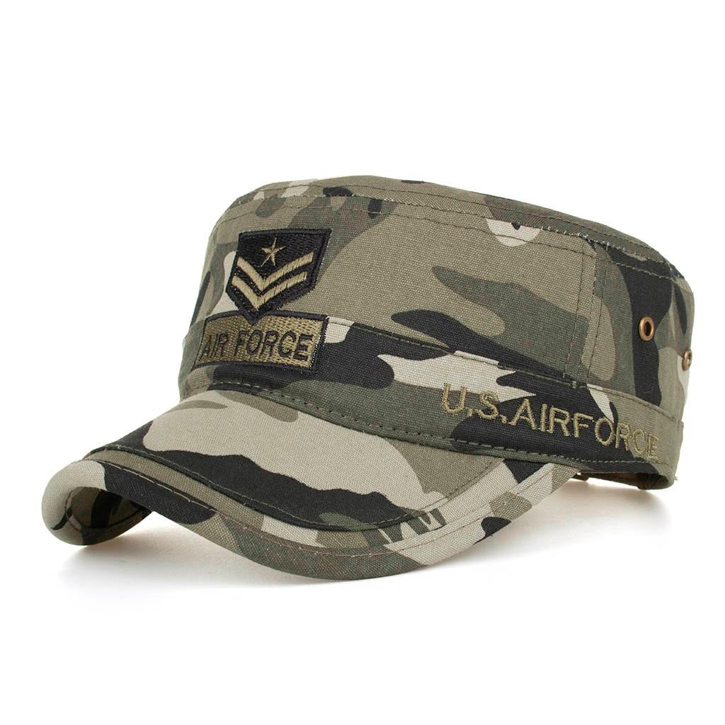 Mulher homem lavado algodão militar caps cadet caps design exclusivo vintage plana boné de moda alta qualidade chapéu 2.27
