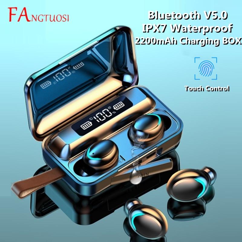 09 9D TWS Bluetooth 5.0 Earphones 2200mAh Charging Box Wireless