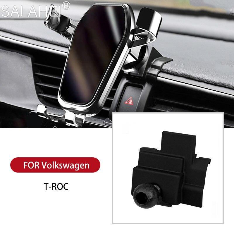 Новый чехол для телефона держатель для Volkswagen T-ROC регулируемый, устанавливаемое на вентиляционное отверстие в салоне автомобиля GPS интерьер...