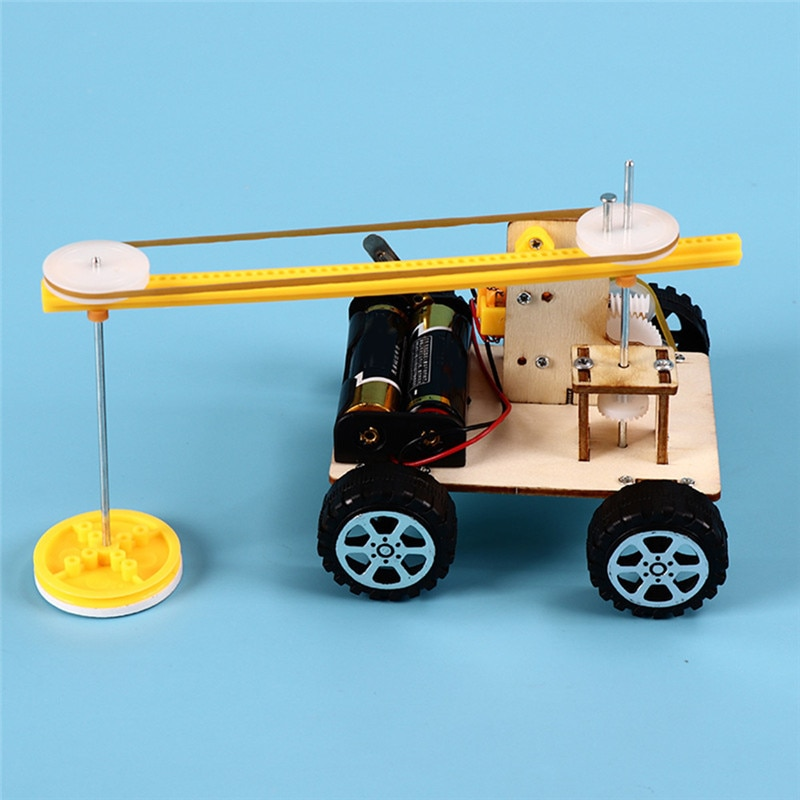 DIY Physical Science Experiment Toys Kids Educational Assemble Kit School Project Discovery Boy Wood
