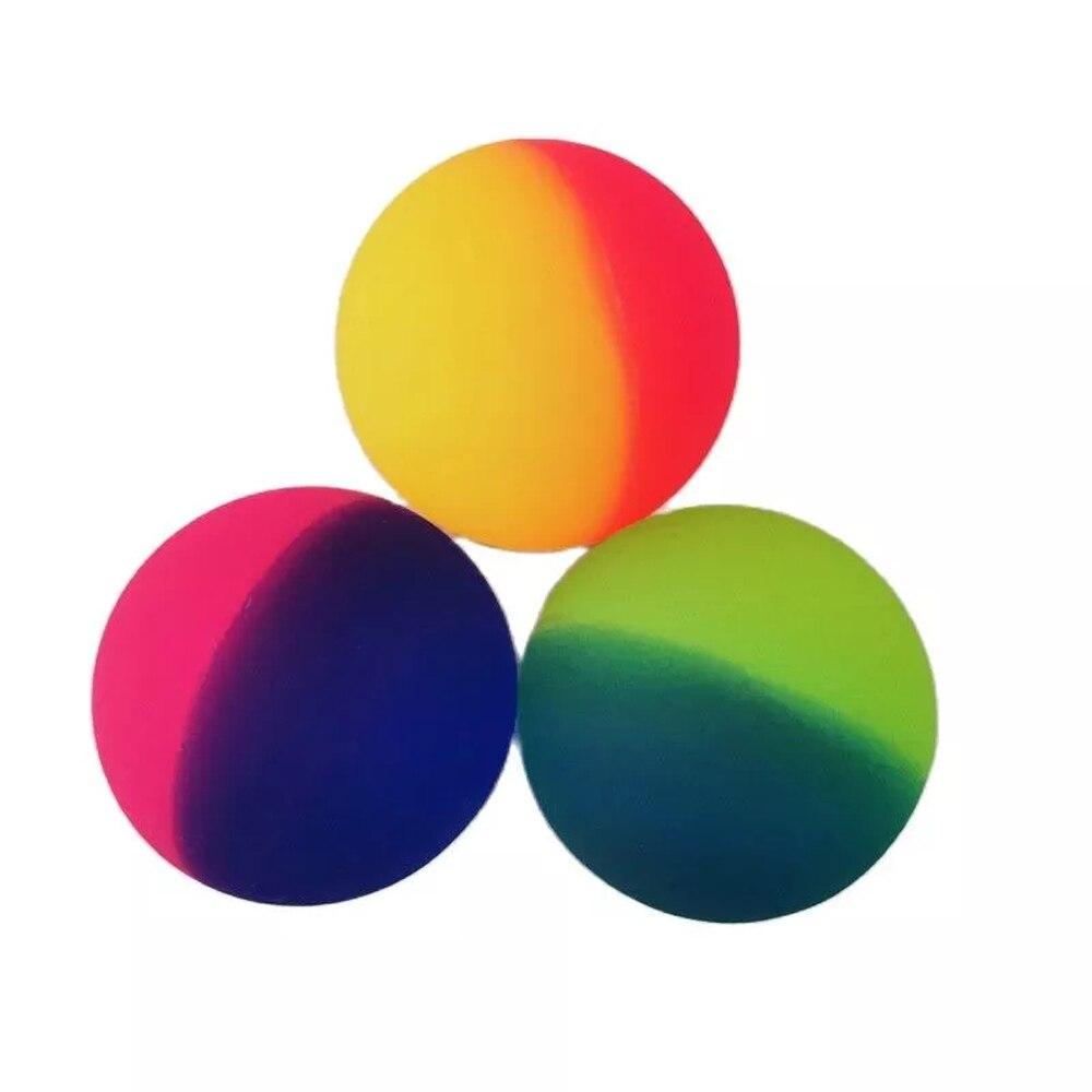 3 шт./компл. красочная игрушка-мяч для снятия стресса, Детская эластичная резиновая детская игрушка-батут для купания на открытом воздухе, кр...