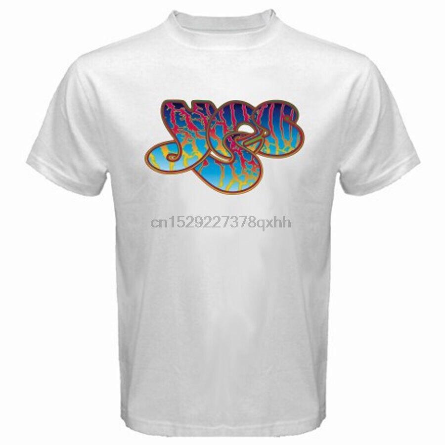 Novo sim banda progressive rock band music legend masculino branco camiseta tamanho S-3XL
